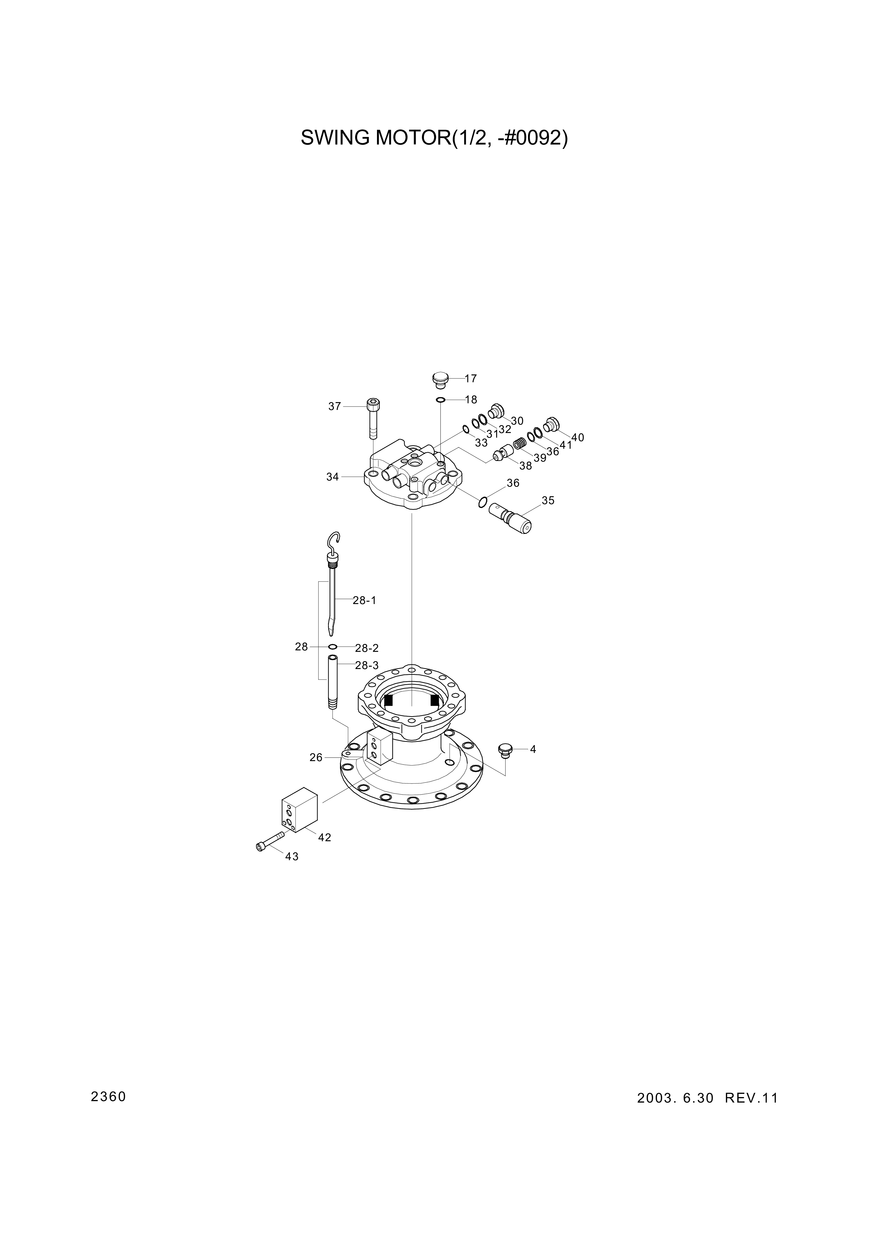 drawing for Hyundai Construction Equipment 3513-154 - VALVE-CHECK