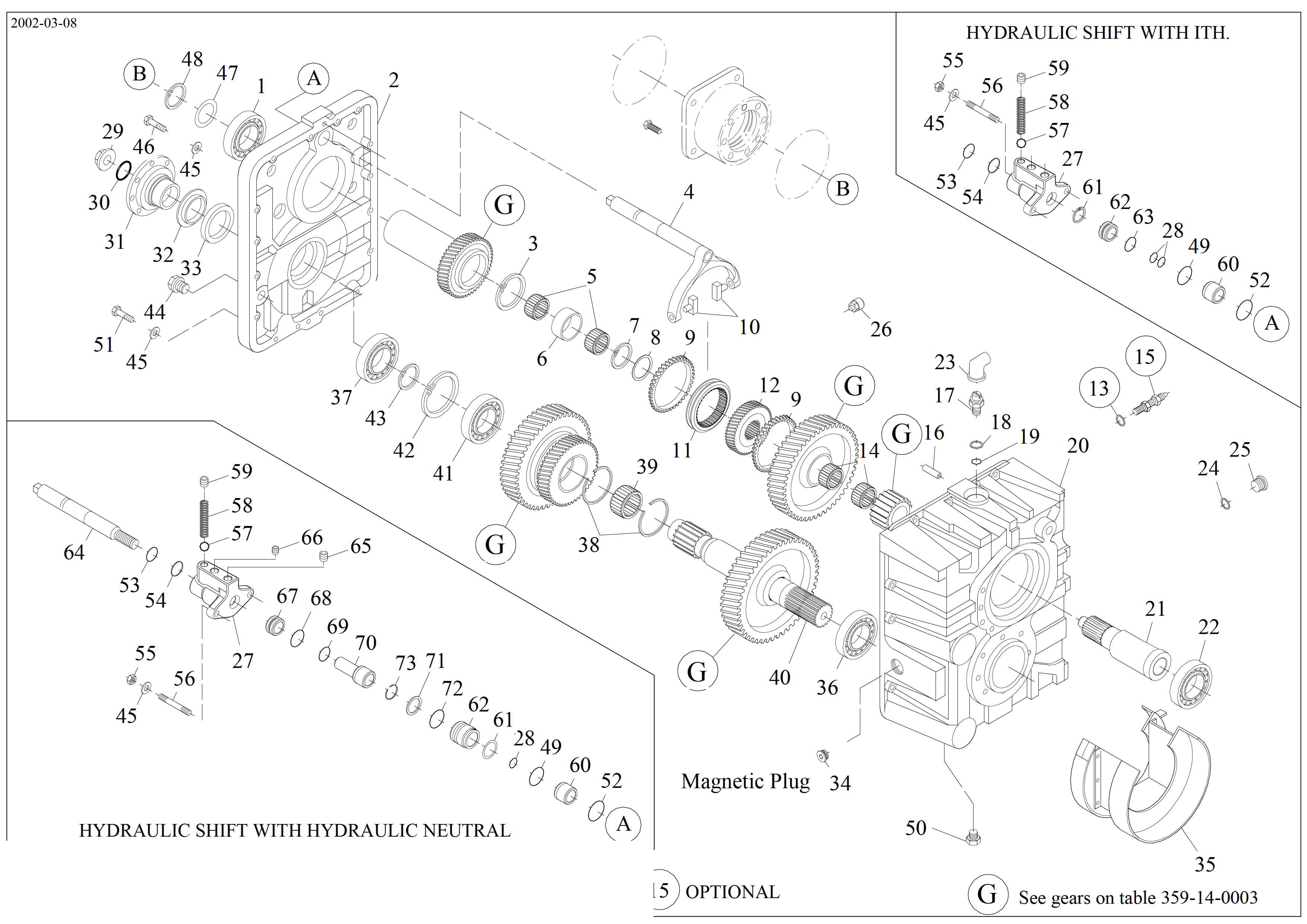 drawing for Hyundai Construction Equipment 355.14.101.01 - SELECTOR-CHANGE