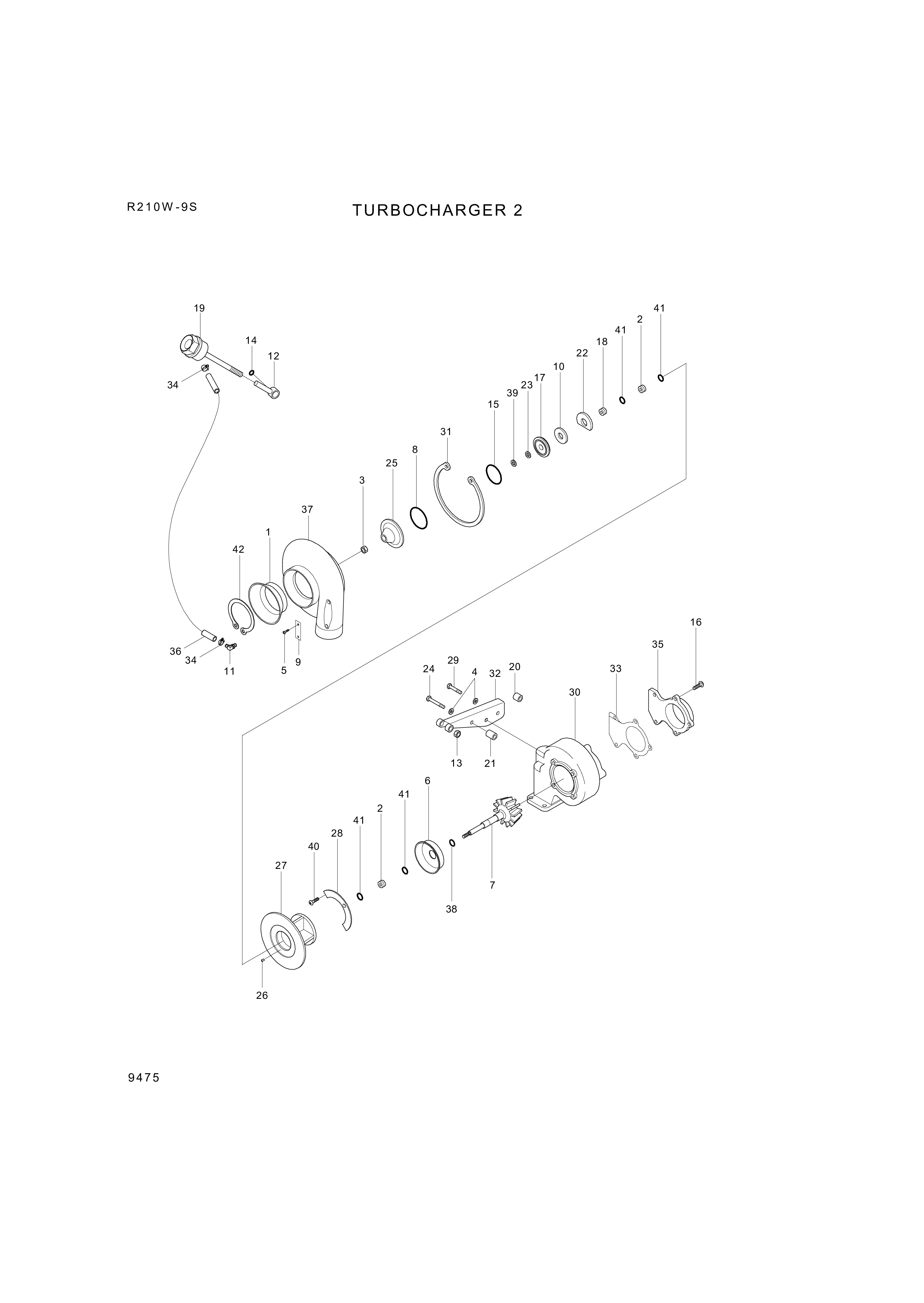 drawing for Hyundai Construction Equipment 3532196 - SPACER-MOUNTING