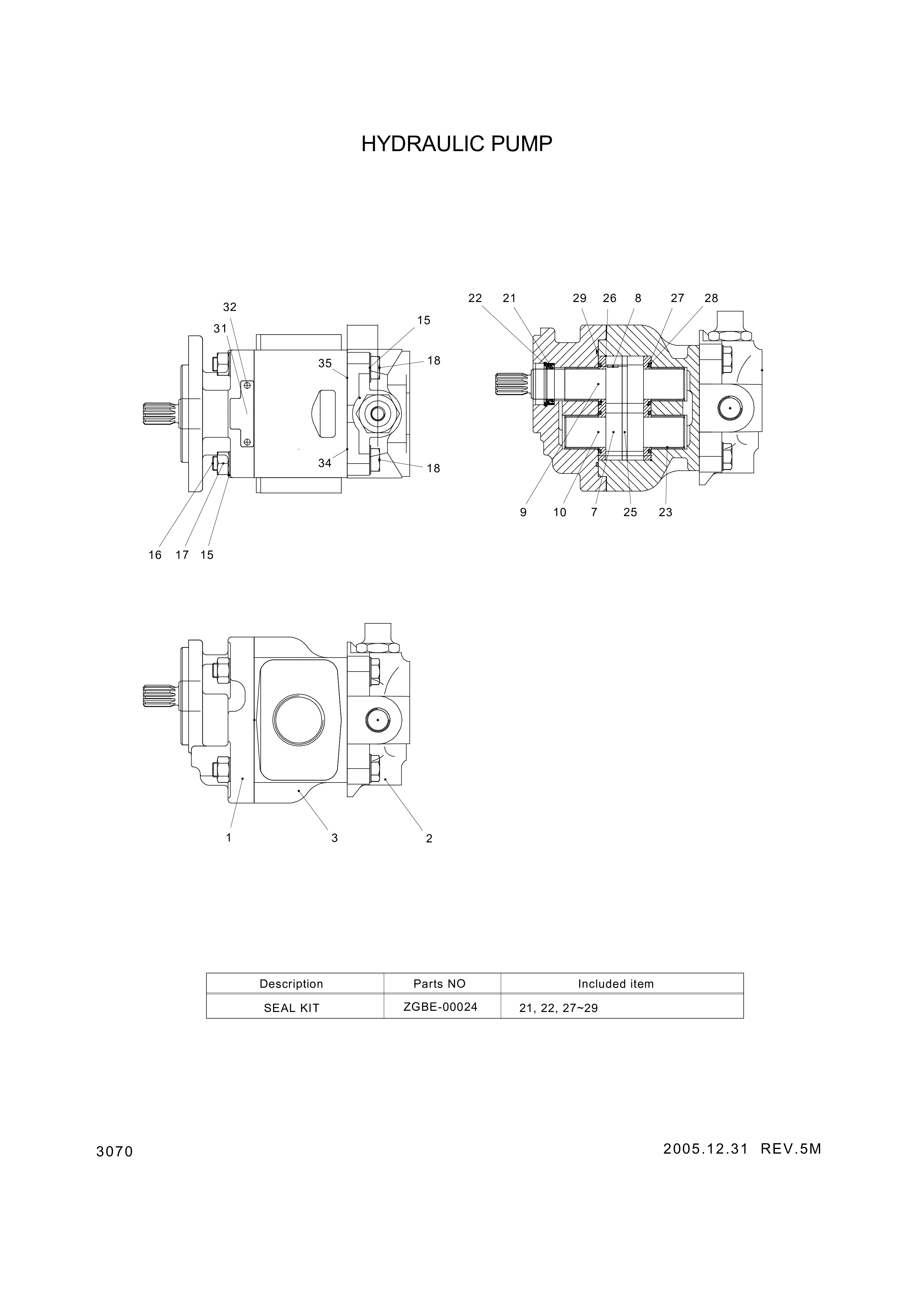 drawing for Hyundai Construction Equipment 9313-024-00W - O-Ring