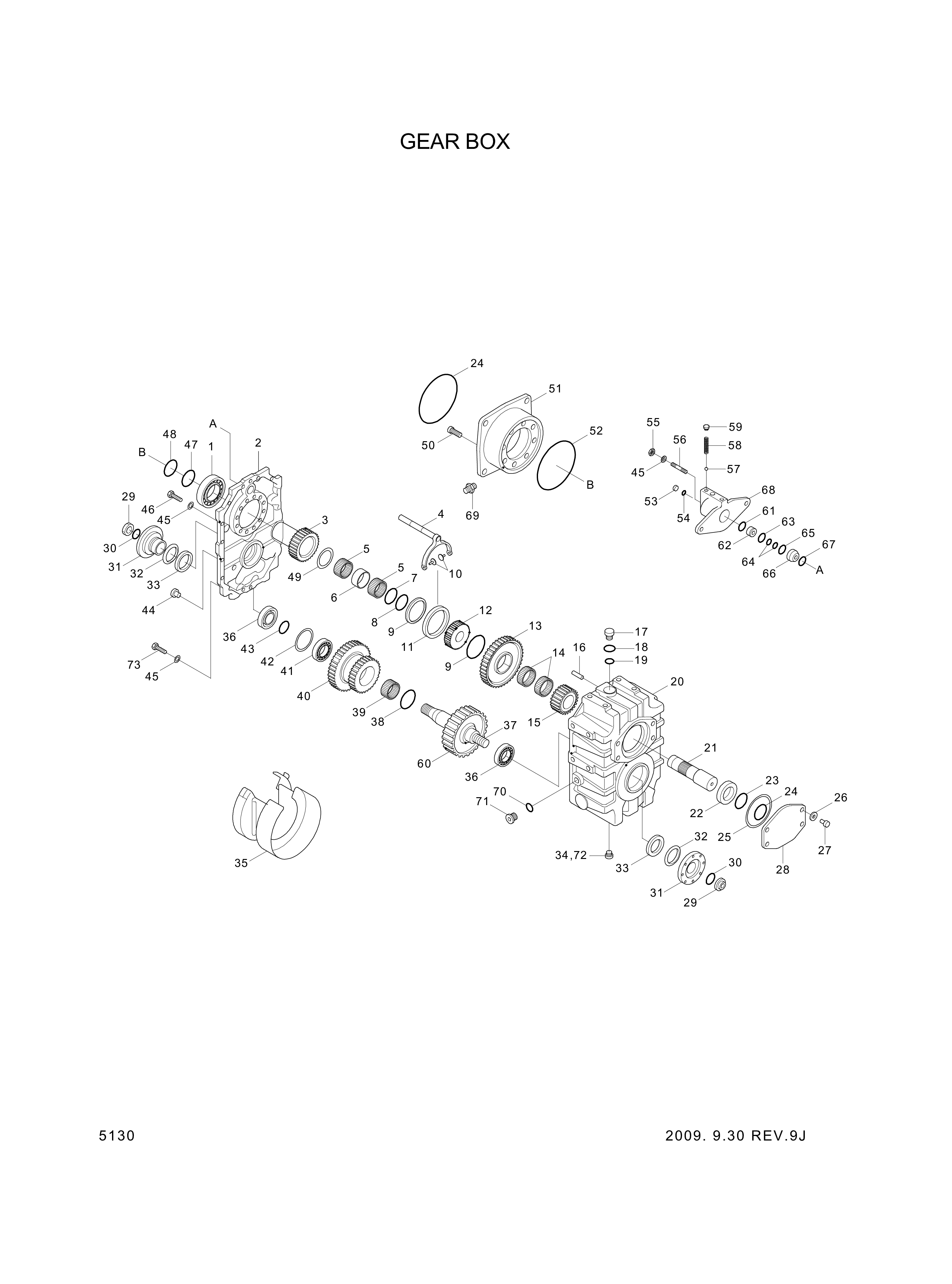 drawing for Hyundai Construction Equipment 3551409101 - COVER