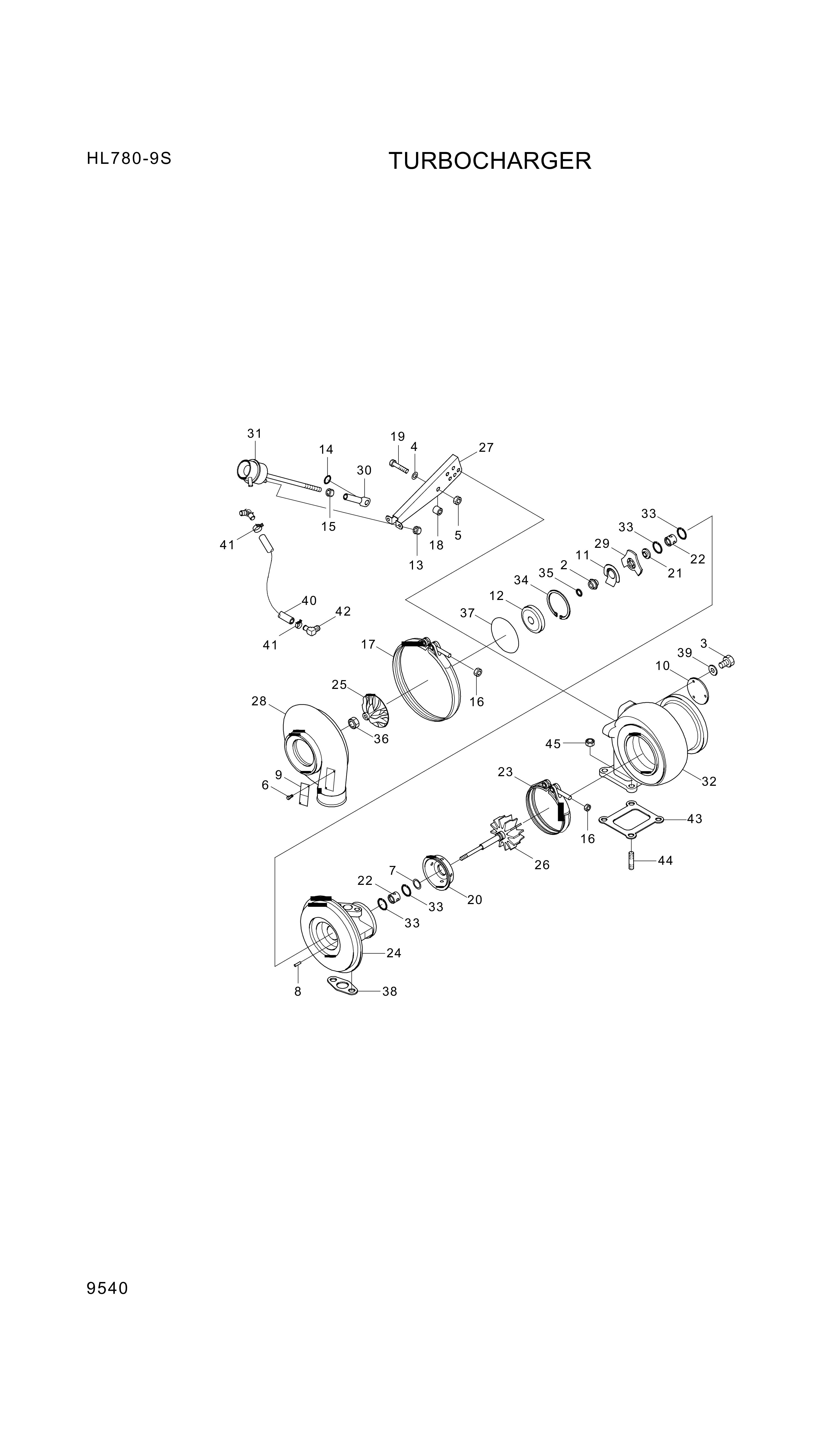 drawing for Hyundai Construction Equipment 3593343 - Housing, Tur Bearing