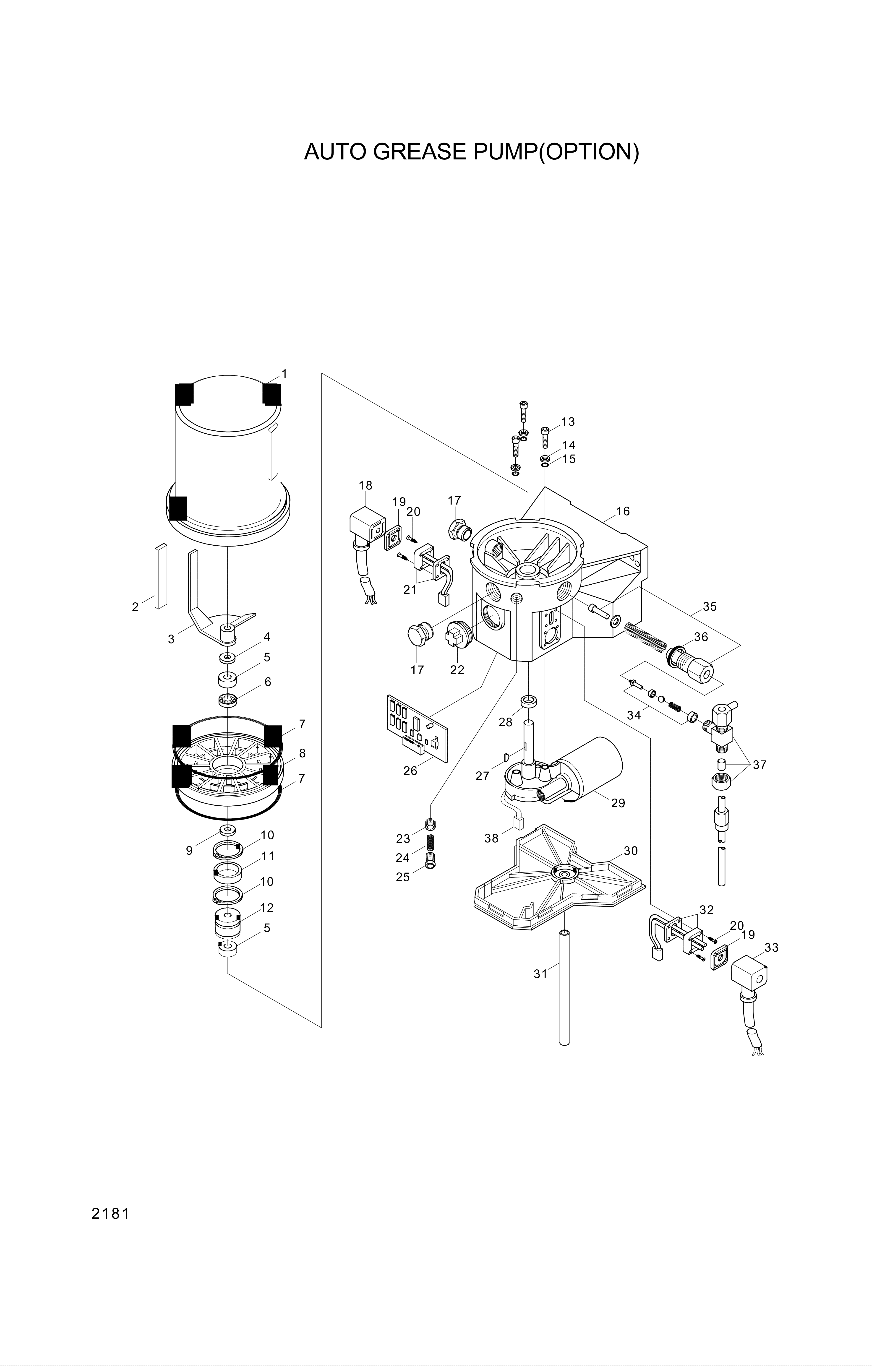 drawing for Hyundai Construction Equipment 3537-220-200K25 - PORT RELIEF VALVE