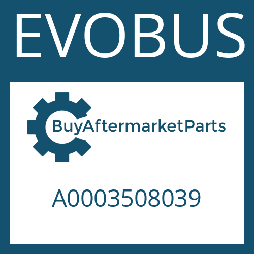 EVOBUS A0003508039 - BEVEL GEAR SET