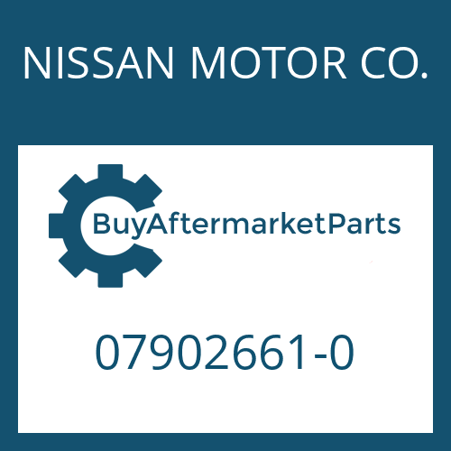 NISSAN MOTOR CO. 07902661-0 - SCREW PLUG