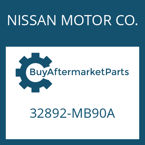 NISSAN MOTOR CO. 32892-MB90A - GEARSHIFT SHAFT