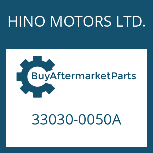HINO MOTORS LTD. 33030-0050A - 16 S 221 IT
