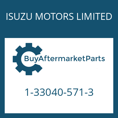 ISUZU MOTORS LIMITED 1-33040-571-3 - 9 S 109