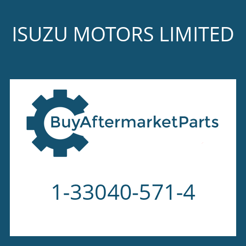 ISUZU MOTORS LIMITED 1-33040-571-4 - 9 S 109