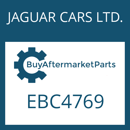 JAGUAR CARS LTD. EBC4769 - 4 HP 22
