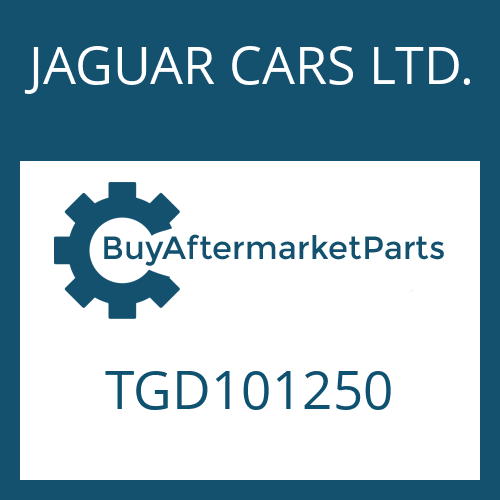 JAGUAR CARS LTD. TGD101250 - 4 HP 22 EH