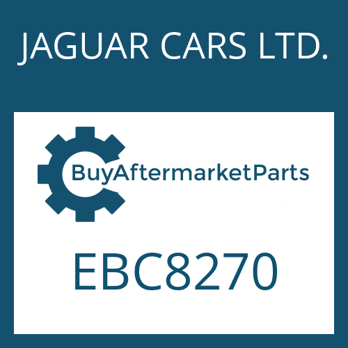 JAGUAR CARS LTD. EBC8270 - 4 HP 24