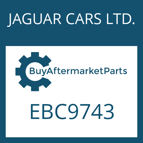 JAGUAR CARS LTD. EBC9743 - 4 HP 24