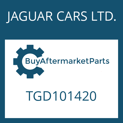 JAGUAR CARS LTD. TGD101420 - 4 HP 24