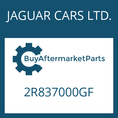 JAGUAR CARS LTD. 2R837000GF - 6 HP 26 SW