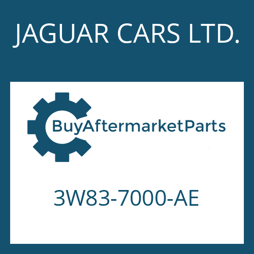 JAGUAR CARS LTD. 3W83-7000-AE - 6 HP 26 SW