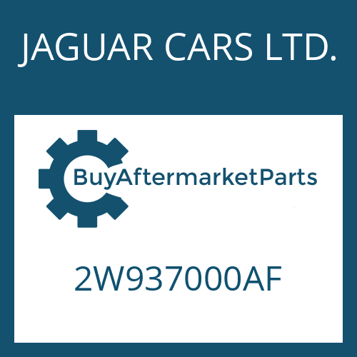 JAGUAR CARS LTD. 2W937000AF - 6 HP 26 SW