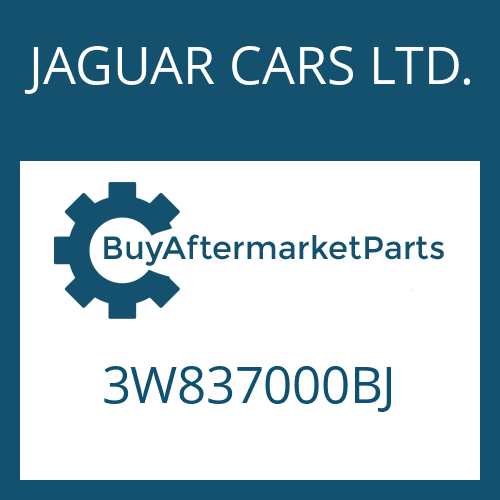 JAGUAR CARS LTD. 3W837000BJ - 6 HP 26 SW