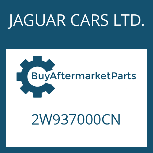 JAGUAR CARS LTD. 2W937000CN - 6 HP 26 SW