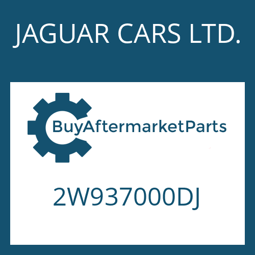 JAGUAR CARS LTD. 2W937000DJ - 6 HP 26 SW