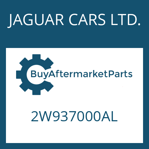 JAGUAR CARS LTD. 2W937000AL - 6 HP 26 SW