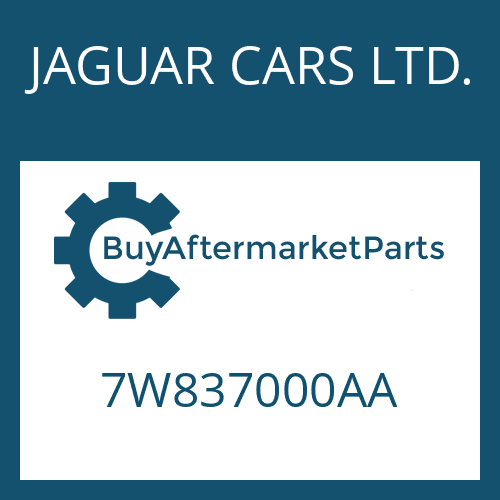 JAGUAR CARS LTD. 7W837000AA - 6 HP 26 SW