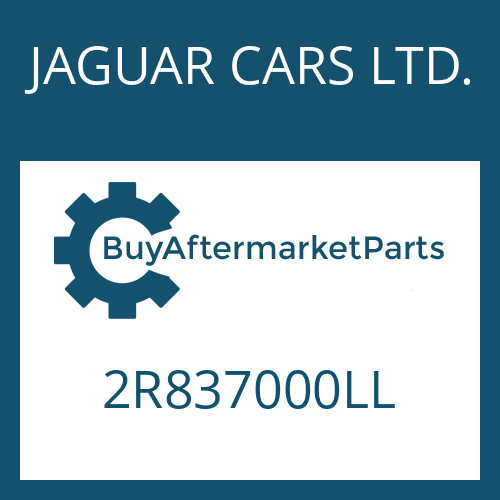 JAGUAR CARS LTD. 2R837000LL - 6 HP 26 SW
