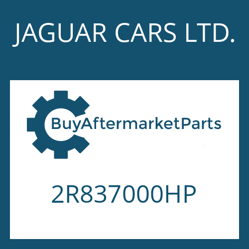 JAGUAR CARS LTD. 2R837000HP - 6 HP 26 SW
