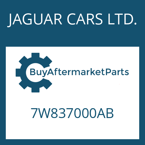JAGUAR CARS LTD. 7W837000AB - 6 HP 26 SW