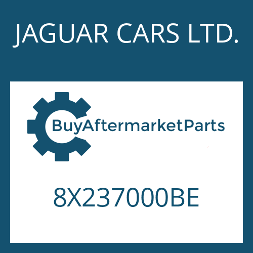 JAGUAR CARS LTD. 8X237000BE - 6 HP 26 SW