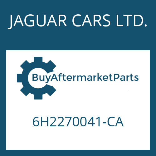 JAGUAR CARS LTD. 6H2270041-CA - 6 HP 26 X SW