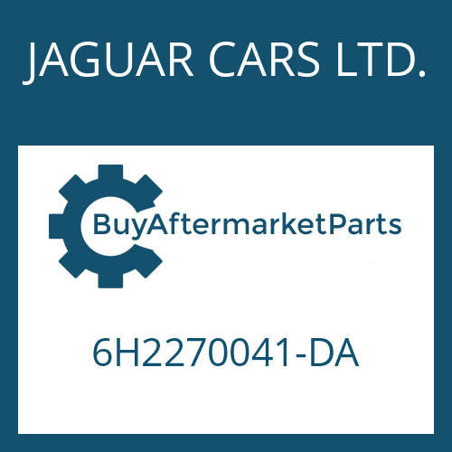 JAGUAR CARS LTD. 6H2270041-DA - 6 HP 26 X SW