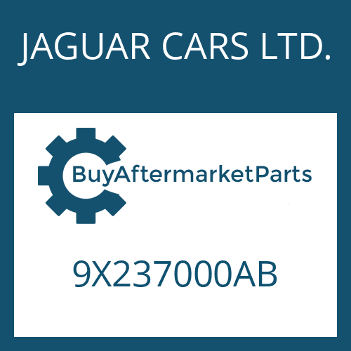 JAGUAR CARS LTD. 9X237000AB - 6 HP 28 SW