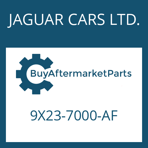 JAGUAR CARS LTD. 9X23-7000-AF - 6 HP 28 SW