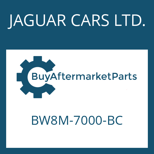 JAGUAR CARS LTD. BW8M-7000-BC - 6 HP 28 SW