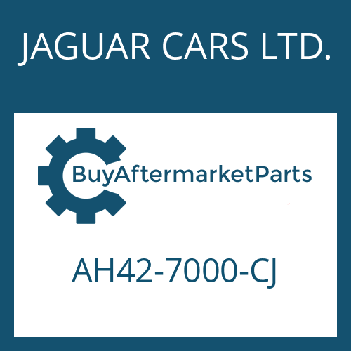 JAGUAR CARS LTD. AH42-7000-CJ - 6 HP 28 X SW