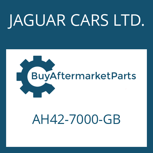 JAGUAR CARS LTD. AH42-7000-GB - 6 HP 28 X SW