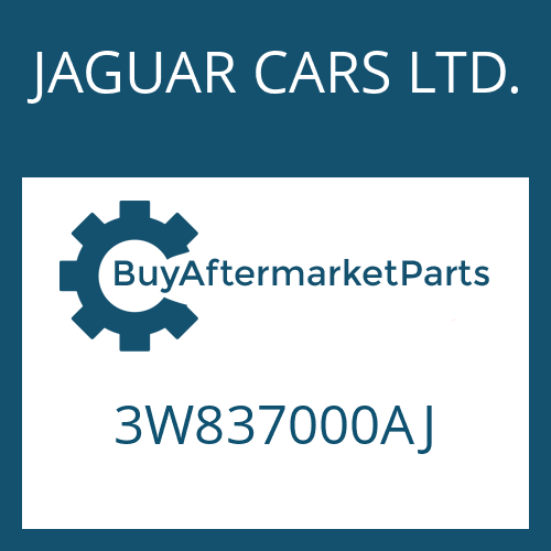 JAGUAR CARS LTD. 3W837000AJ - 6 HP 26 SW