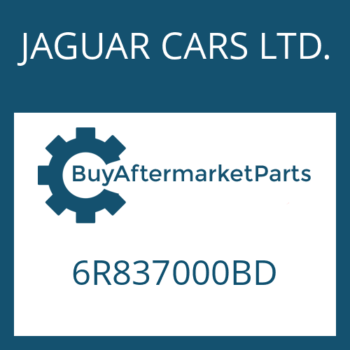 JAGUAR CARS LTD. 6R837000BD - 6 HP 26 SW