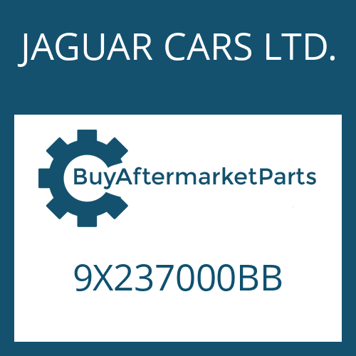 JAGUAR CARS LTD. 9X237000BB - 6 HP 28 SW