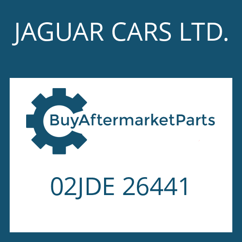 JAGUAR CARS LTD. 02JDE 26441 - SMALL COMPONENTS SET