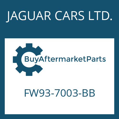 JAGUAR CARS LTD. FW93-7003-BB - 8HP70