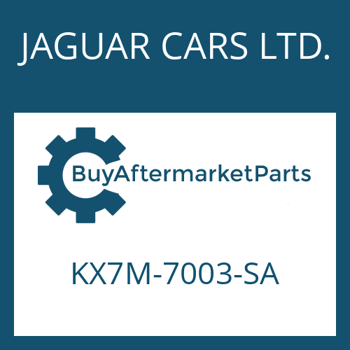 JAGUAR CARS LTD. KX7M-7003-SA - 8HP70X HIS