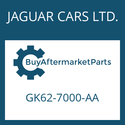 JAGUAR CARS LTD. GK62-7000-AA - 8HP70X HIS SW