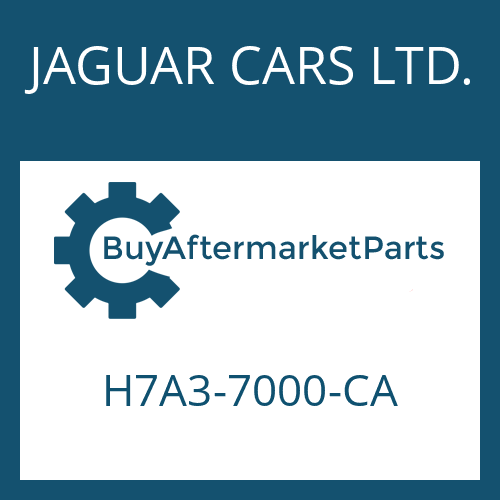 JAGUAR CARS LTD. H7A3-7000-CA - 8HP45X HIS SW
