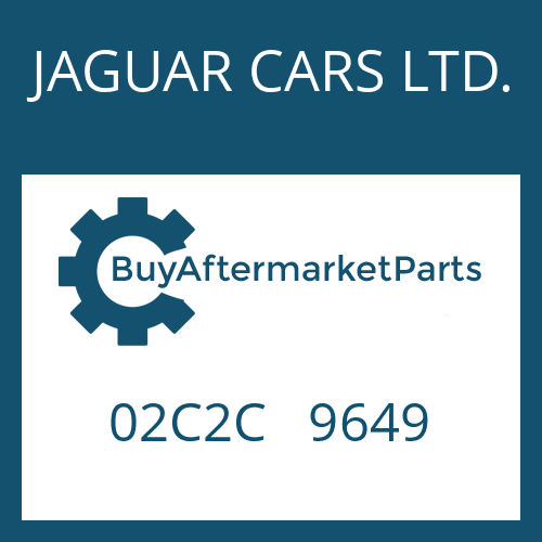 JAGUAR CARS LTD. 02C2C   9649 - SCREW PLUG
