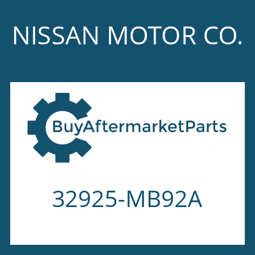 NISSAN MOTOR CO. 32925-MB92A - SHIM
