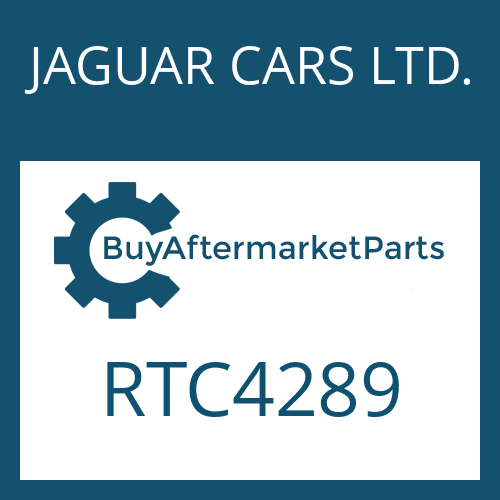 JAGUAR CARS LTD. RTC4289 - SHAFT SEAL