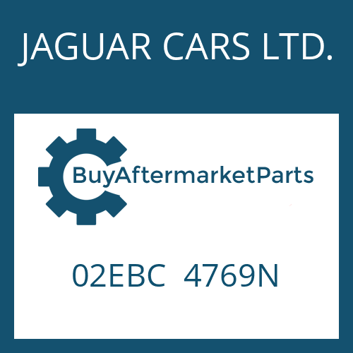 JAGUAR CARS LTD. 02EBC  4769N - 4 HP 22
