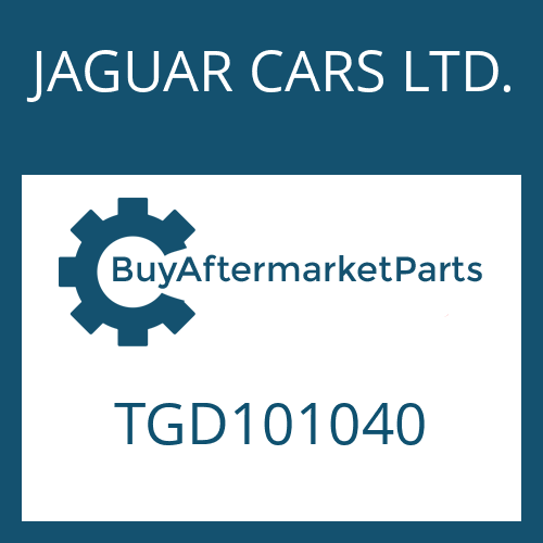 JAGUAR CARS LTD. TGD101040 - 4 HP 22 EH